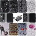Para a apple ipad mini 4 case capa carteira inteligente pu couro stand caso capa protetora para ipad mini4 com cartão Slots