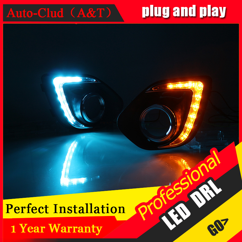 Auto Clud car styling For Mitsubishi ASX LED DRL For ASX led fog lamps daytime running light High brightness guide LED DRL auto clud car styling for toyota highlander led drl for highlander high brightness guide led drl led fog lamps daytime running l