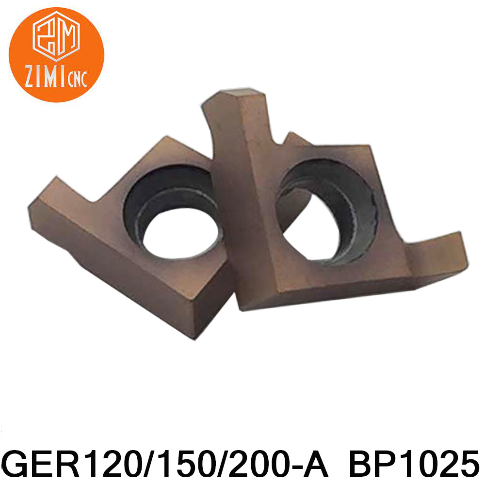 10pcs GER120/GER150/GER200 -A BP1025 Carbide CNC Lathe Insert  Shallow Groove Small Aperture Cutting Blade Grooving Insert