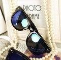 Dobrável óculos de sol das mulheres Dos Homens do vintage óculos Rebite óculos de sol Espelho miopia Freeshipping
