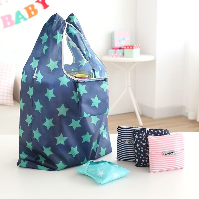 1PC Fashion Unisex Women Men Reusable Shopping Bag Grocery Star ...