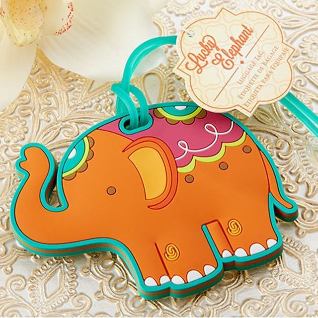 100pcslot high quality lucky elephant luggage tag baby shower party favor wedding bridal shower