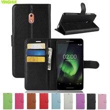 Nokia 2,1 чехол Nokia 2 чехол Роскошный чехол-кошелек из искусственной кожи чехол для Nokia 2,1 TA-1080 флип-чехол для задней панели сотового телефона мешок