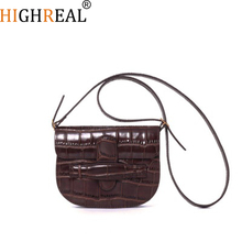 HIGHREAL Women Belt Bag Leather Waist Bag Vintage Fashion Women's Pure  Animal Print Alligator Chest Bags Dropship