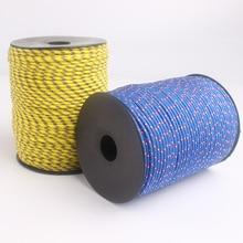 Yooupara cordas de paraquedas 3mm 100m, corda de acampamento para escalada, diy, multifuncional, 30 cores