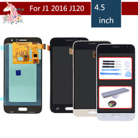 10pcs For Samsung Galaxy J1 2016 J120F J120A J120M J120 Full Lcd Display AMOLED Touch Screen Digitizer Sensor Assembly Complete