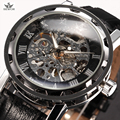 SEWOR Luxury Brand Skeleton Watches Mechanical Hand Wind Wristwatch Leather Strap Classic Relogio Masculino Men Fashion Watch