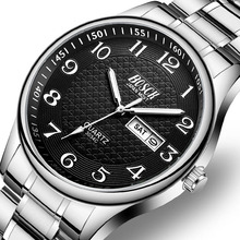 BOSCK Steel Week Calendar Luxury Men Watches Waterproof Luminous Number Classic