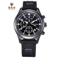 Top verkopen luxe holuns mannen zakelijke horloge waterdicht klok militaire leger horloge 2016 sport quartz watche outdoor militaire relojes