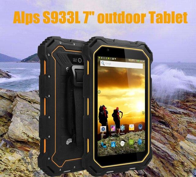 "Alps S933L 7"" tablet 1280*800 240dpi 2GB/16GB 7000 mAh 4G/WIFI multi-languauge IP68 waterproof level Android 5.1 Bluetooth"