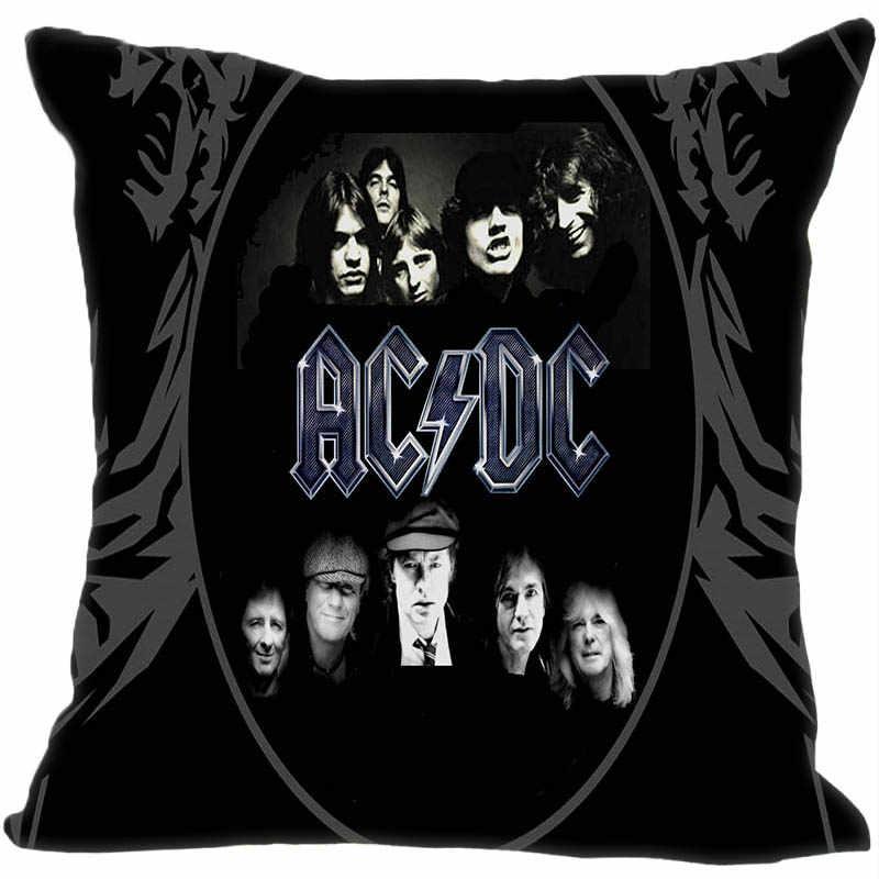 Personalizado decorativo fronha música banda acdc estilo quadrado com zíper capa de travesseiro 35x35,40x40,45x45 cm (um lado) 180516-54