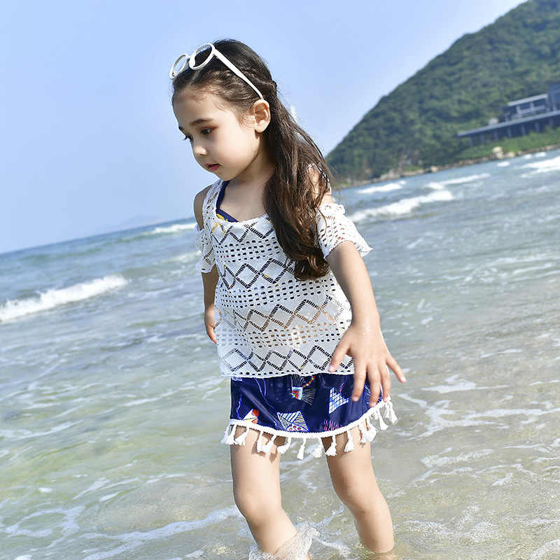 0fd5be1d24d27 ... Family Matching Outfits Mommy and Me Swimsuit Daddy Girl Swimwear  Mother Son Outfits Father Boys Short ...