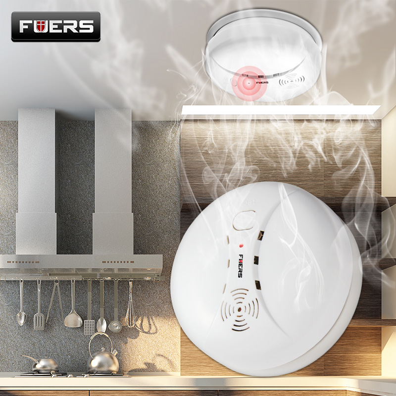 Fuers Wireless Smoke Detector Independent Anti-Fire Smoke sensor Alarm Over 85db For Wifi GSM Home Security System No Battery wireless smoke fire detector smoke alarm for touch keypad panel wifi gsm home security system without battery