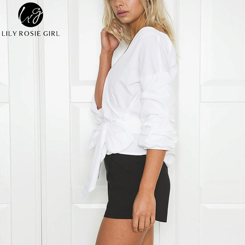 82f63a39b4a Conmoto Off Shoulder Black Striped Blouse Shirt Spring Sexy Ruched Sleeve  Cool Tops Women Waist Tie Cotton Top Tees Blusa-in Blouses & Shirts from  Women's ...