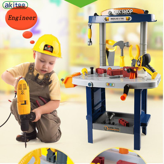 New arrival Children Play Toy Boy Gnucci Puzzle Screwdriver Tools Simulation Suit Male Baby Repair Kit early education toys gift