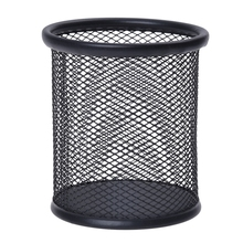 Steel Mesh Pencil Cup-black