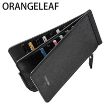 Cremallera Slim Long Multi-función de alta capacidad Monedero Male Coin Purse Clutch Bag Smart Men Monedero Money Card Holder Perse