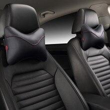Car leather breathing headrest Car pillow bone neck pillow headrest of  four seasons car seat cushion
