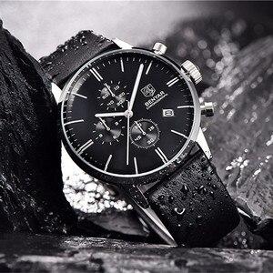 Image 5 - BENYAR модные спортивные мужские часы с хронографом Лидирующий бренд Роскошные Кварцевые часы водонепроницаемые часы мужские часы relogio Masculino