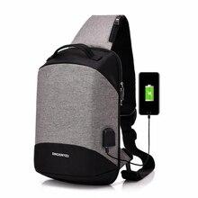 цены GLHGJP Fashion USB Men Chest bags Design Anti-theft Men Crossbody Bag Large Capacity Male Casual Messenger Bag School Bag