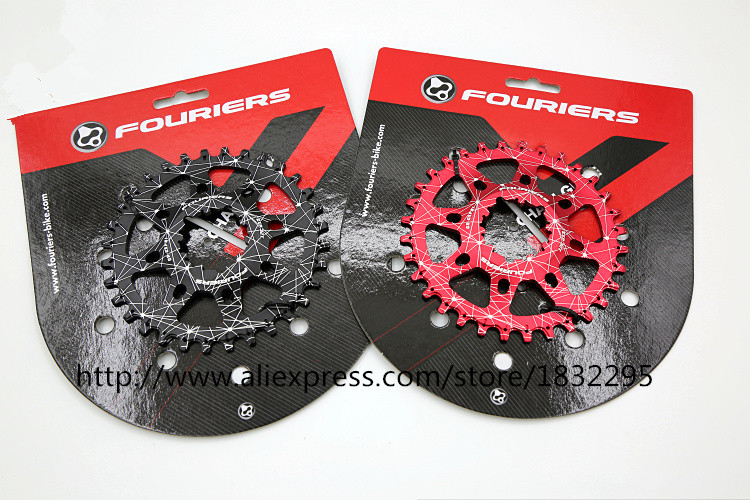 FOURIERS  CNC mtb Chain Ring 30- 38T / MTB bike bicycle crank chainring tooth Disc / chain ring XX1/ X0 /X9/GXP Crank system cnc alloy mtb bike bicycle chain bash guard mount chainring guide 30 40t p c d 104mm bike crankset protection
