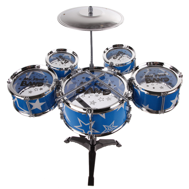 Kids Drum Set with Chair