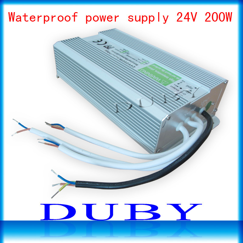 IP67 24V 8.3A 200W AC100-240V Input Electronic Waterproof Led Power Supply/ Led Adapter 24V 200W free Fedex free shipping donar esc 24v 200w multicolour sensitometry machine light bulb 02