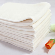 10 Pcs/lot 4 Layers 100% Bamboo Fiber Insert Reusable Washable Breathable Inserts Boosters Liners For Baby Cloth Diapers Nappy