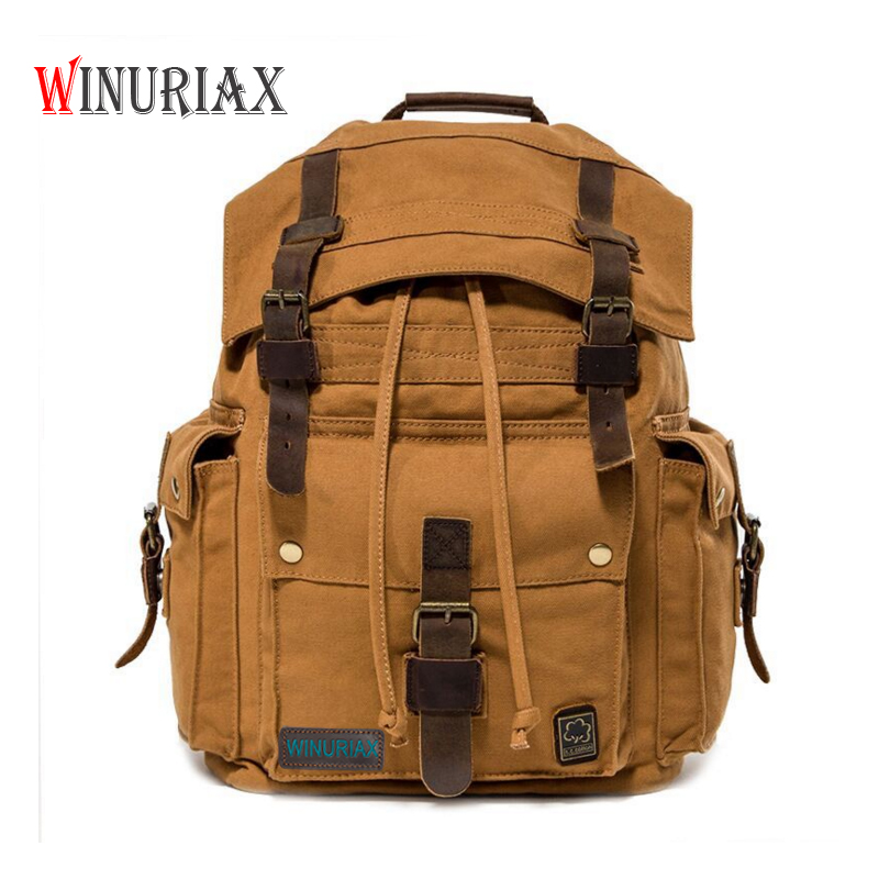 Retro Men's Canvas Backpacks vintage Men's Bags fashion Europe style travel formal backpack leisure men's shoulder bag 20-35L 13 laptop backpack bag school travel national style waterproof canvas computer backpacks bags unique 13 15 women retro bags