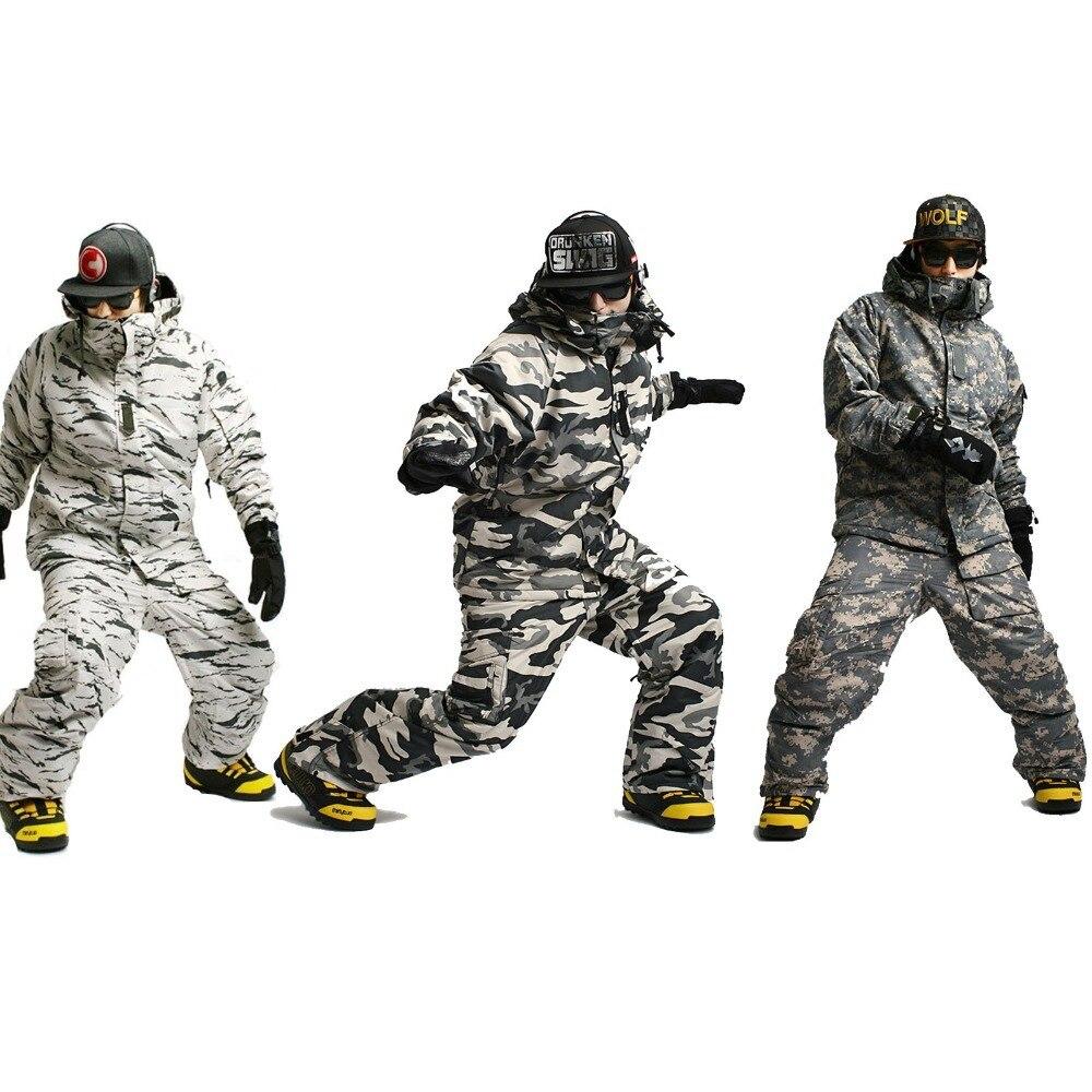 New Premium Edition Southplay Зимний водостойкий 10000 мм утепленный Камуфляжный костюм (куртка + брюки) комплекты