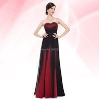 Free Shipping 08070 Mystical Blue Elegant Strapless Long Evening Dress