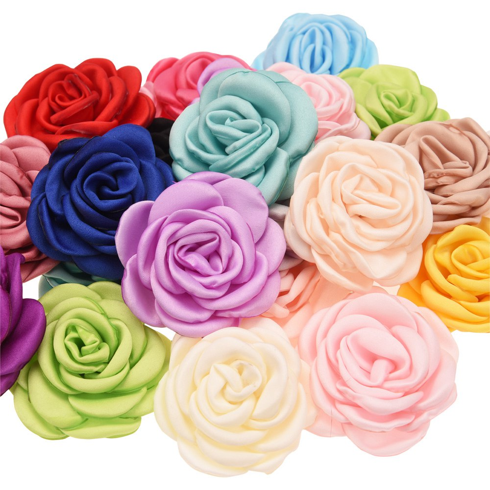 200pcs Curling flowers 6cm Hair Flower Accessory DIY Hair Accessories Boutique Headwrap unicorn accessories No Bows