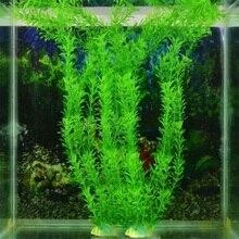 Neue 37CM künstliche unterwasser pflanzen aquarium aquarium dekoration grün lila wasser gras betrachtung dekorationen