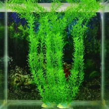 New 37CM artificial underwater plants aquarium fish tank decoration green purple water grass viewing decorations(China)