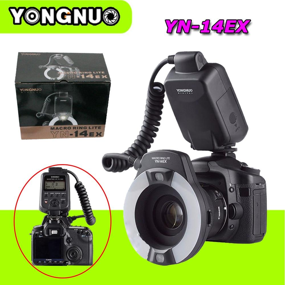 Yongnuo YN-14EX YN 14EX TTL LED Wireless Macro Ring Light Flash Speedlite for Canon 5Ds 5Dsr 760D 5D Mark III 6D 7D 70D 700D 2x yongnuo yn600ex rt yn e3 rt master flash speedlite for canon rt radio trigger system st e3 rt 600ex rt 5d3 7d 6d 70d 60d 5d