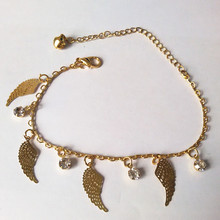 Wings Of The Angel and Crystal Bracelet  Little Bells Bracelets Gold Fine Bracelet Fine ankles Priced Direct Selling