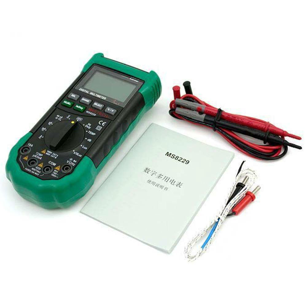 M042 MASTECH MS8229 5in1 Auto range Digital Multimeter DMM LUXMETER Thermometer Sound Level Tester Humidity Meter FREE SHIPPING 100% original fluke 15b f15b auto range digital multimeter meter dmm