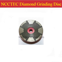 4'' NCCTEC resin filled diamond grinding CUP wheel 100mm 8 segments stone hot press disc | Effectively prevent stone edge damage