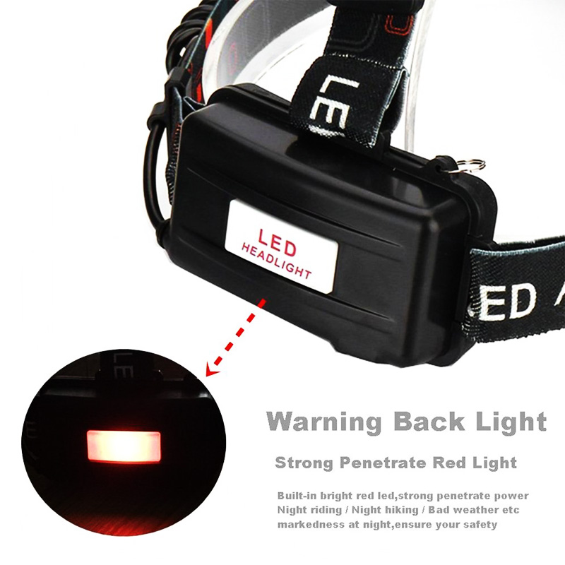 cheapest EZK20 Dropshipping Headlamp Flashlight Rechargeable 3 T6 R5 LED Hard Hat Headlight Battery Car Wall Charger for Camping