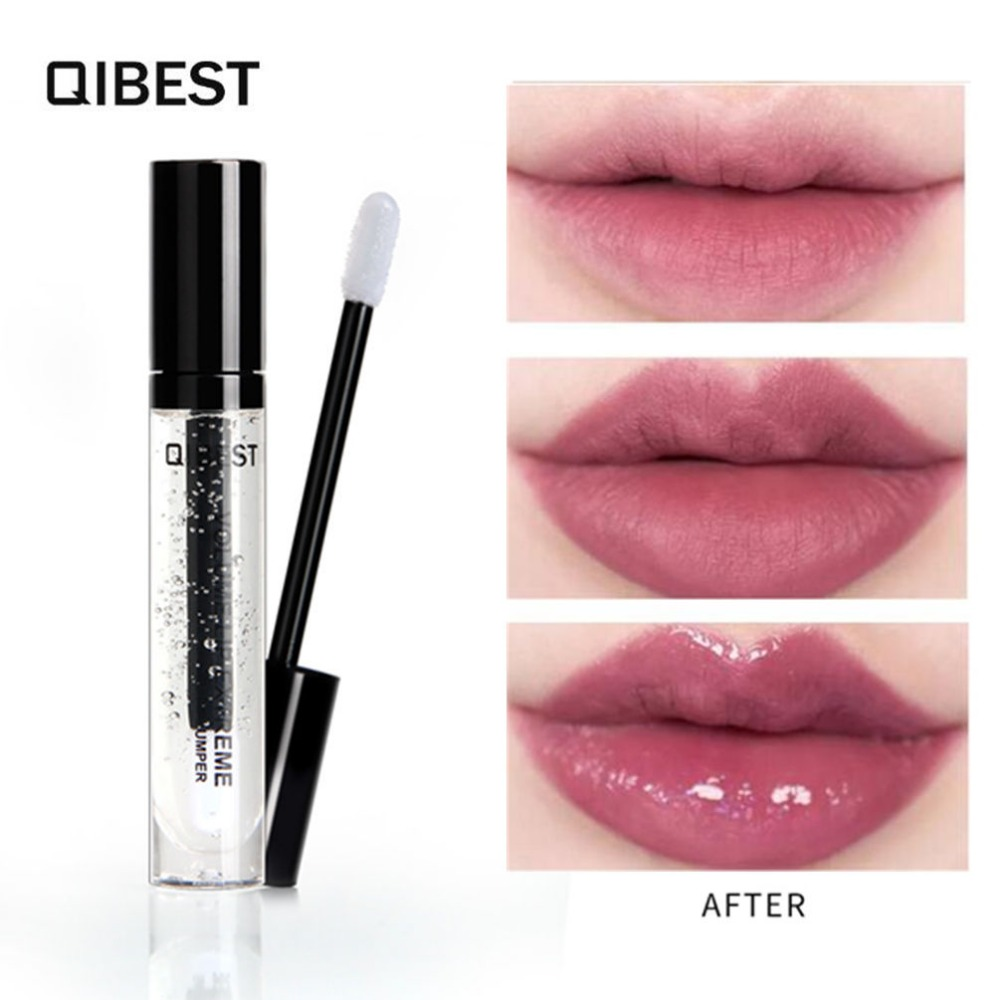Qibest New Make Up Clear Liquid Lipgloss Waterproof Long Lasting Big Lips Moisturizer Luxury Lip Gloss Transparent Makeup