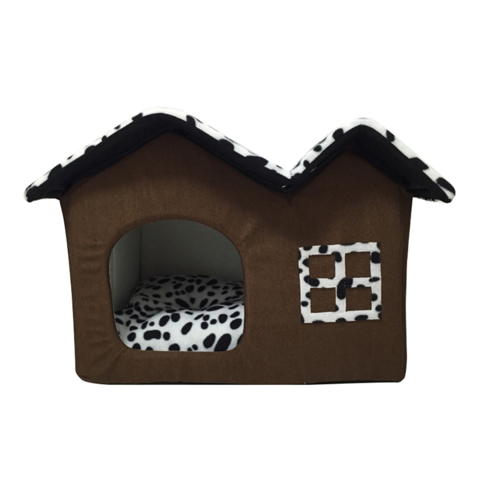 Indoor dog house - Aliexpress Com Buy 2017 New Luxury Indoor Dog House Double Room Dog Kennel Pet Puppy Cat Bed House Winter Warm Rooms From Reliable Cat Bed Suppliers On