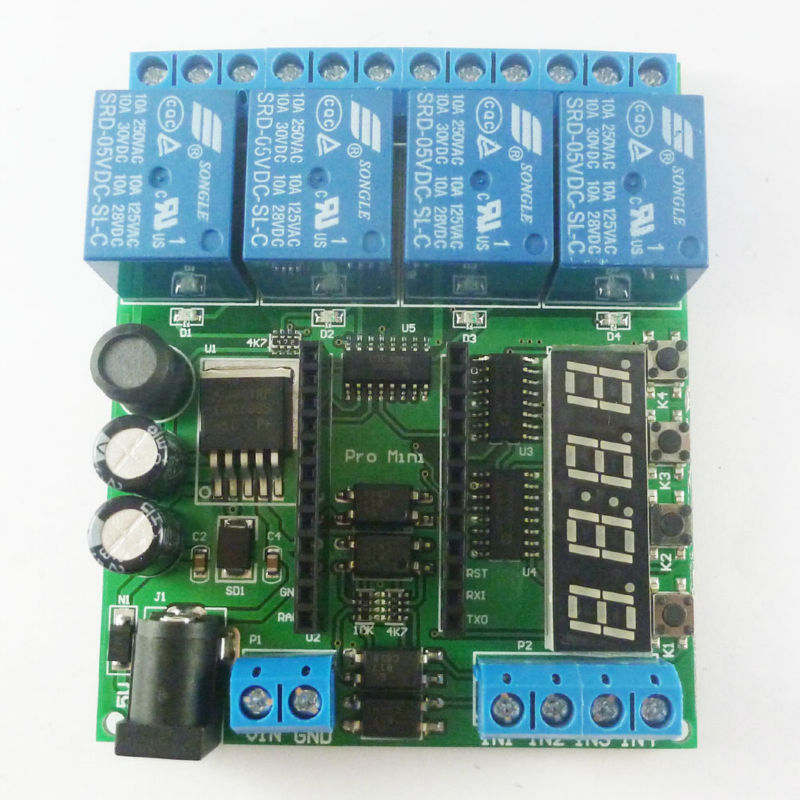 DC 12V Multifunction Self-lock Relay Time Delay PLC Cycle Timer Module Switch UK