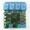 DC 5 V 12 V 24 V 4 Canal mini Pro PLC Placa de Atraso do Temporizador do Relé Módulo de Escudo para Arduino interruptor