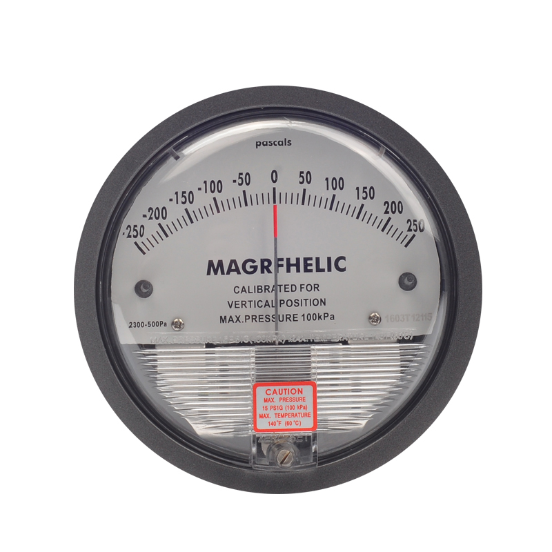 -250~250PA TE2000 Micro Differential Pressure Gauge High Precision 1/8