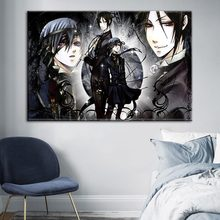Canvas HD Prints Home Decoration Black Butler Poster Japanese Anime Painting Wall Art Modular Picture Framework For Living Room(China)