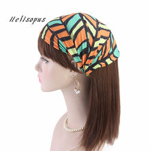 Helisopus 2019 Ladies Widened Headband National Style Cotton Elastic Pattern Printed Headscarf Fashion Women Hair Accessories(China)