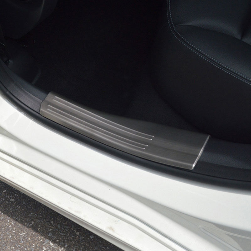 4pcs Stainless Steel Inner Door Sill Scuff Plate Trim For Mercedes Benz A B GLA CLA