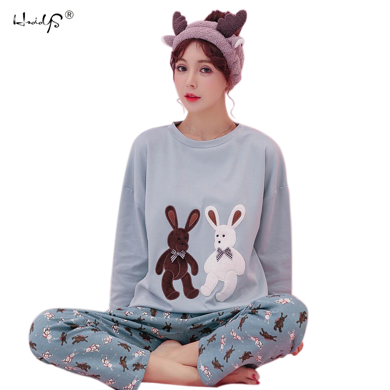 Detail Feedback Questions about New Women Pajamas Sets 100% Cotton Nightwear  Spring Autumn Long Sleeve Pyjamas O Neck Sleepwear Female Pijamas Mujer Home  ... 1ef7d17f1