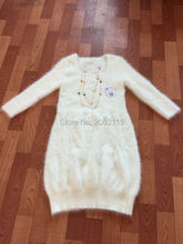 New mink cashmere sweater women mink cashmere pullovers knitted sweater dress Free Delivery