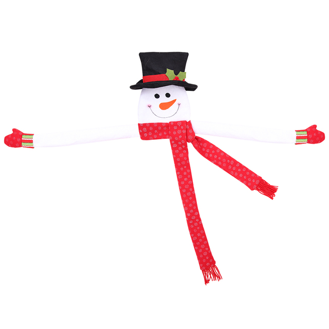 red small Outdoor snowman decoration 5c64ef1f43e07